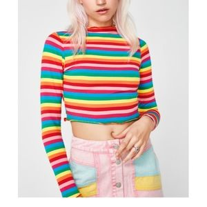 Dollskill - Follow My Rainbow Crop Top